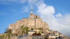 Time-lapse of Mont Saint-Michel Normandy France. - stock footage