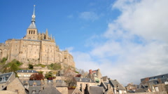 Time-lapse of Mont Saint-Michel in Normandy. Stock Footage