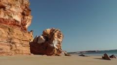Cliff coast Western Australia remote beach Stock Footage