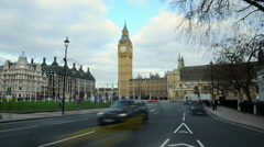 Time-lapse of street in London and Big Ben. Stock Footage