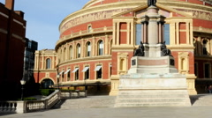 Time-lapse showing a statue at Royal Albert Hall in London. Stock Footage