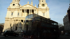 Time-lapse of St. Paul's Cathedral in London with traffic. Stock Footage