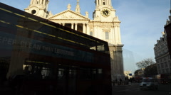 Time-lapse pan of St. Paul's Cathedral in London. Stock Footage