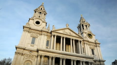 Time-lapse of St. Paul's Cathedral in London. Stock Footage