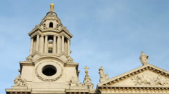 Time-lapse of a tower of St. Paul's Cathedral in London. Stock Footage