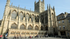 Time-lapse of Bath Abbey in England. Stock Footage