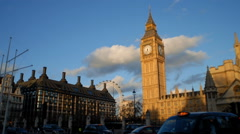 Time-lapse of Big Ben and buildings in London England. - stock footage
