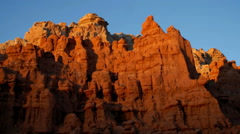 Time-lapse of red rock cliffs at sunset. Stock Footage