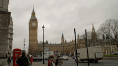 Time-lapse of Big Ben clock tower in London. - stock footage