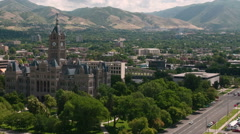 Time-lapse around the County Building in Salt Lake City UT. Stock Footage