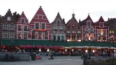 Time-lapse of people in Market Square of Bruges Belgium. Stock Footage
