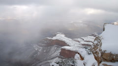 Time-lapse of Grand Canyon in winter. Stock Footage