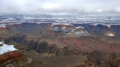 Time-lapse of a snowy landscape at the Grand Canyon. Stock Footage