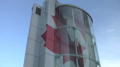 Vancouver's Olympic welcome center. Stock Footage