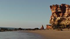 High cliff coast Australia Broome Stock Footage