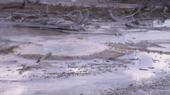 Clip of a Yellowstone hot pot. Stock Footage