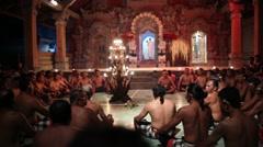 Kecak dance Bali Stock Footage
