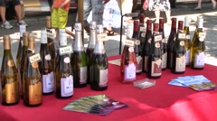 Savoie (Savoyard) Wines, Chambery, France - stock footage