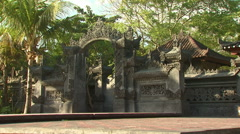 Ancient, ornate wall in Bali. - stock footage