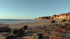 Scenic coast cliff Western Australia Broome Stock Footage