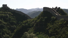 Slow panning the Great Wall of China at Badaling near Bejing, China. Stock Footage