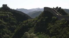 Slow panning the Great Wall of China at Badaling near Bejing, China. - stock footage