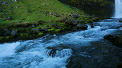 Waterfall and RIver in Green Mountain Valley. Stock Footage