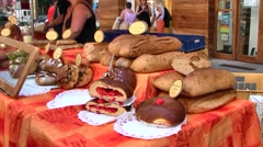 Chambery, France French Market Stock Footage