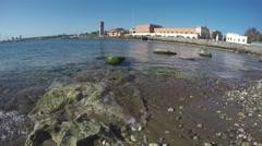 Rhodes island city port, Dodecanese, Greece. 4K Stock Footage