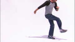 Dancer break dancing on a white background. Stock Footage