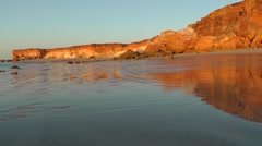 Scenic clif coast Broome Australia Stock Footage