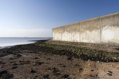 Sea wall and beach on Canvey Island, Essex, England Kuvituskuvat