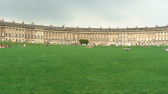 Houses of the Royal Crescent in Bath, England. Stock Footage
