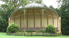 Shot of a gazebo in England. Stock Footage
