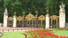 Canada Gate at The Green Park in London, England. Stock Footage