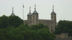 Tower of London in England. Stock Footage