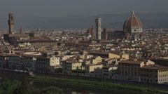 Skyline Florence from Piazalle Michelangelo, time lapse Stock Footage