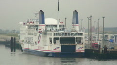 SeaFrance ferry at a marina dock. Stock Footage