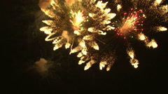 Royalty Free Stock Footage of Clip of pyrotechnics in the night sky. Stock Footage