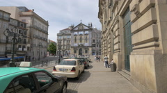Saint Anthony's Church Congregados seen from Almeida Garrett Square in Porto - stock footage