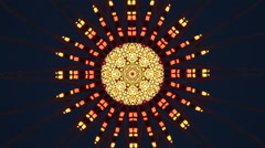Blinking LED lights background in yellow and orange kaleidoscope effect Stock Footage