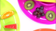 Stock Video Footage of Rotating close-up of an assortment of fruit.