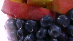 Assortment of fruit in a vase. Stock Footage