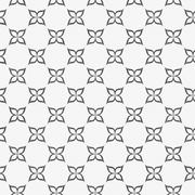 Gray and White Flower Symbol Tile Pattern Repeat Background Stock Illustration