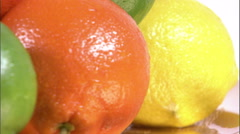 Close shot of varied fruits. - stock footage