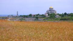 View of the Cathedral of St. Vladimir in Chersonesos Stock Footage