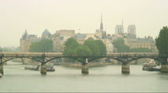 Royalty Free Stock Footage of Ferries on the River Seine in Paris, France. Stock Footage