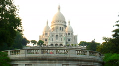 Royalty Free Stock Footage of Sacre-Coeur Basilica in Paris, France. Stock Footage