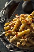 Homemade Salty Cheese French Fries - stock photo