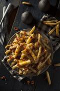 Homemade Salty Cheese French Fries Stock Photos